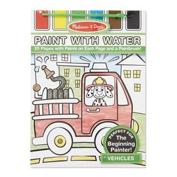 Paint With Water Book - Vehicles