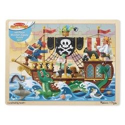 Wooden Jigsaw Puzzle - Pirate Adventure - 48 Pieces