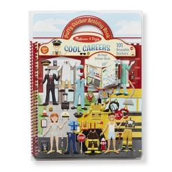 Reusable Puffy Sticker Activity Book - Cool Careers