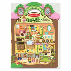 Reusable Puffy Sticker Play Sets - Chipmunk House