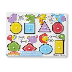 Peg Puzzle - Shapes - 8 Pieces
