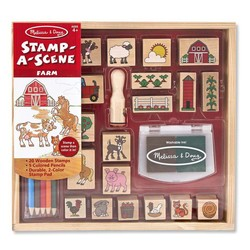 Stamp A Scene Farm Wooden Stamp Set