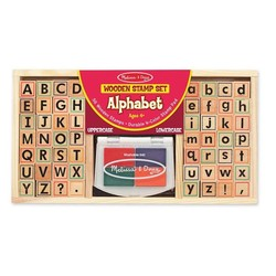 Alphabet Wooden Stamp Set