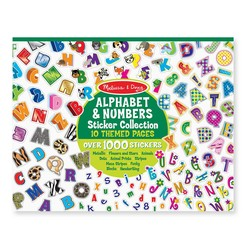 Sticker Pad - Sticker Collection - Alphabet & Numbers