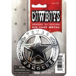 Metal Texas Ranger Badge