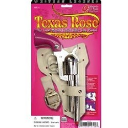 "Diecast Metal Western Texas Rose Holster Cap Gun Set 10.5"" Long"