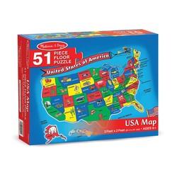 U.S.A. Map Floor Puzzle - 51 Pieces