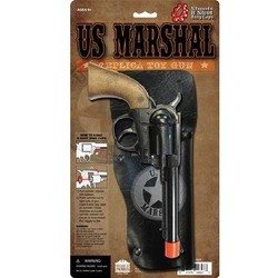 "Western US Marshall Holster Cap Gun Set 9"" Long"