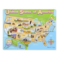 USA Map Puzzle - 45 Pieces
