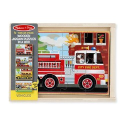 4 Jigsaw Puzzles in a Box - Vehicle - 12 Piece