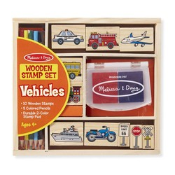 Vehicles Wooden Stamp Set