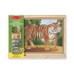 4 Jigsaw Puzzles in a Box - Wild Animals - 12 Piece