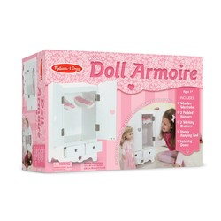 Wooden Doll Armoire