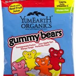 YumEarth Organics Gummy Bears Personal Size 2.5 oz Bag