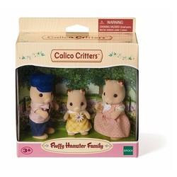 Fluffy Hamster Family