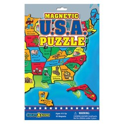 Create A Scene - Magnetic USA Puzzle