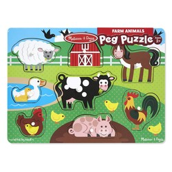 Peg Puzzle - Farm - 8 Pieces