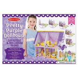 3D Puzzle - Pretty Purple Dollhouse
