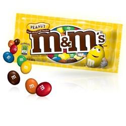 M&M's Peanut Chocolate Candy 1.74 oz. Bag