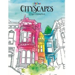 Adult Coloring Book - Cityscapes