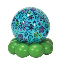 Dreamz to Go Groovy Globes Aqua Flowers & Hearts