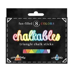 Chalkables: Triangular Jumbo Chalks  (Box of 8)