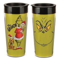 Dr. Seuss Grinch 16 oz. Plastic Travel  Mug