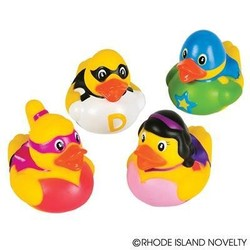 "2"" Super Hero Rubber Duckies"