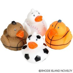 "2"" Sports Ball Rubber Duckies"
