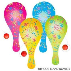 "9"" Neon Paddle Ball Game"