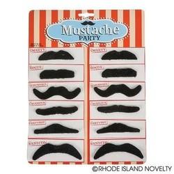 """3.5"""" 12 Piece Black Mustaches"""