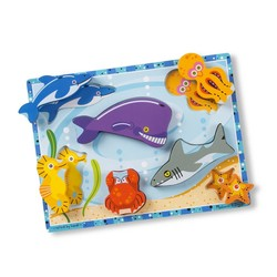 Chunky Puzzle - Sea Creatures - 7 Pieces