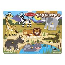 Peg Puzzle - Safari - 7 Pieces