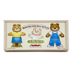 Wooden Bear Family Dress-Up Puzzle - 45 Pieces