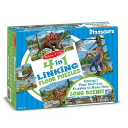 Dinosaurs Floor Puzzles 4 - 24 Piece Puzzles