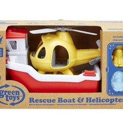 Rescue Boat and Helicopter