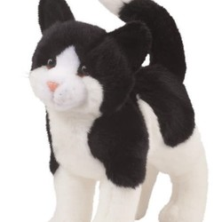 """Scooter - Black & White Cat 12"""""""