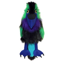 Multicolored Raven Puppet