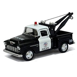 "5"" Diecast 1955 Chevy Stepside Pickup Truck Police"