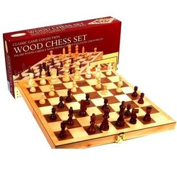 "15"" Deluxe Wood Chess Set"