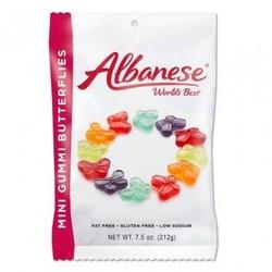 Mini Gummi Butterflies - 7.5 oz. Peg Bag