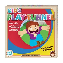 6 Foot Multi-Color Children's Exploration Pop-Up Tunnel