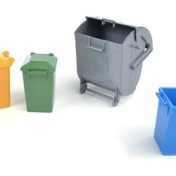 Trash Bin Set (3 small, 1 big)
