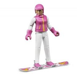 Snowboarder Woman with Accessories