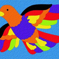 Crepe Rubber Puzzle - Bird 27pc