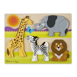 Chunky Puzzle - Jumbo Safari - 20 Pieces