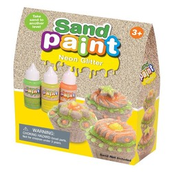 Sand Paint Neon Glitter - 3PK