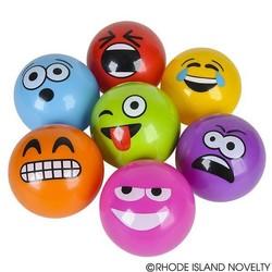 """5"""" Emoticon Emoji Vinyl Ball Assorted Colors"""