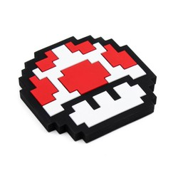 Silicone Teether - Nintendo 8 Bit Red Mushroom