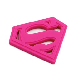 Silicone Teether - DC Comics Superman Pink